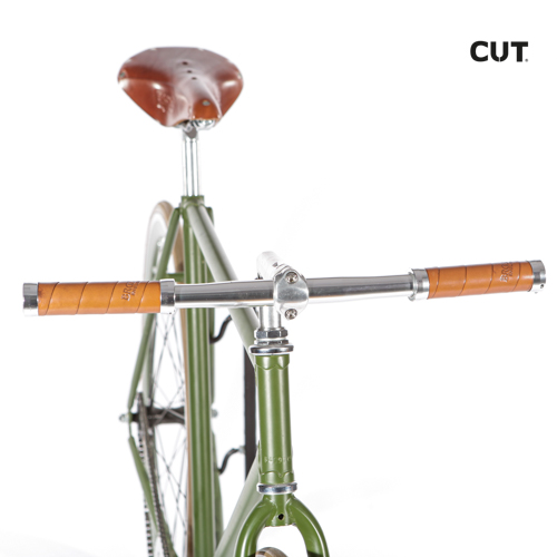 Fashion photography props bike fixed gear green leather 06