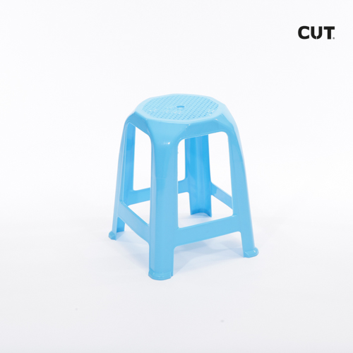 Fashion photography props chair blue short stool 02