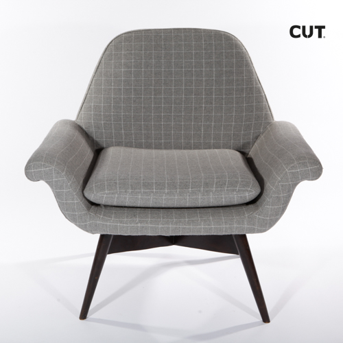 Fashion photography props chair gray armchair 01