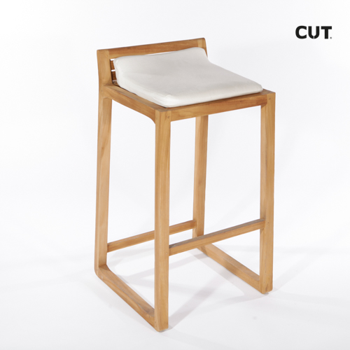 Fashion photography props chair wooden stool 04