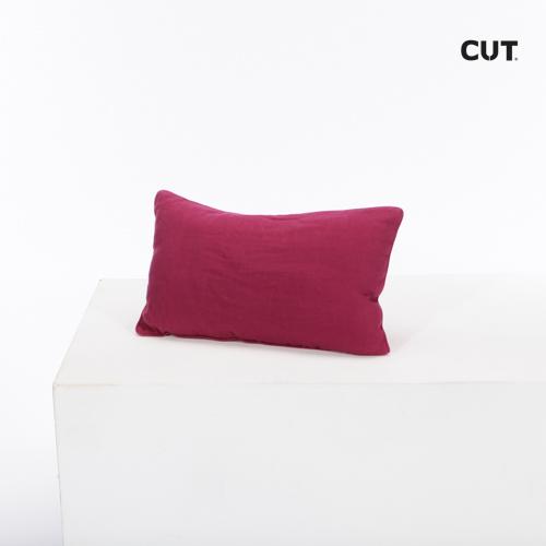 cushion maroon velvet rectangular