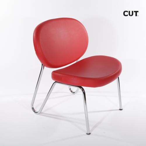 Fashion props chair red aluminium 04
