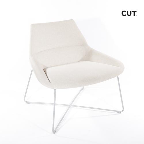 Fashion props chair soft grey design 04