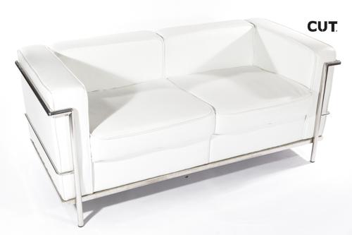 Fashion props chair white aluminium couch 04