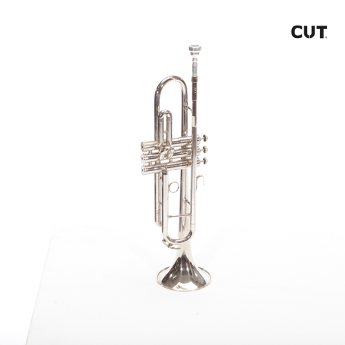 Fashion props complements music trumpet silver black 0