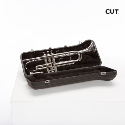 Fashion props complements music trumpet silver black 02