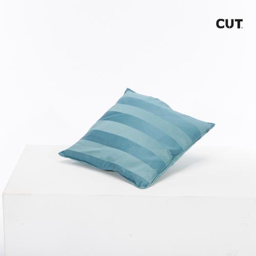 cushion blue stripes