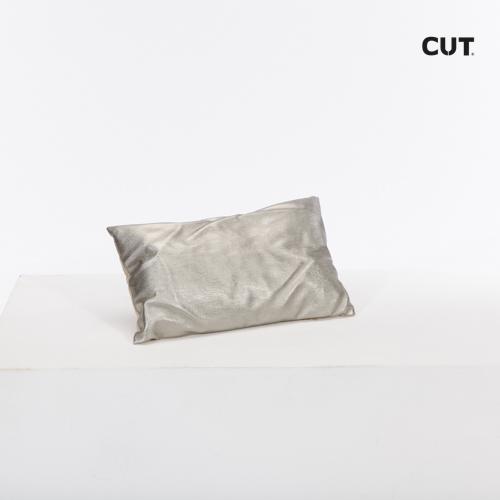 cushion silver matte small rectangular