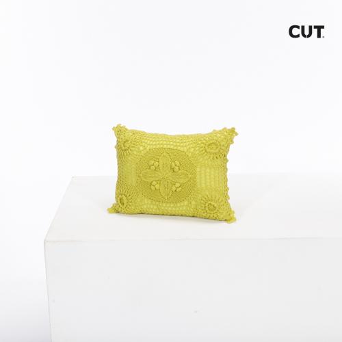 Fashion props in Mallorca cushion green embroided rectangular 01