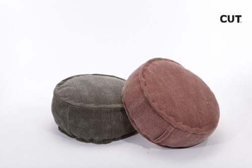 Fashion props in Spain chair brown moroccan pouf 01