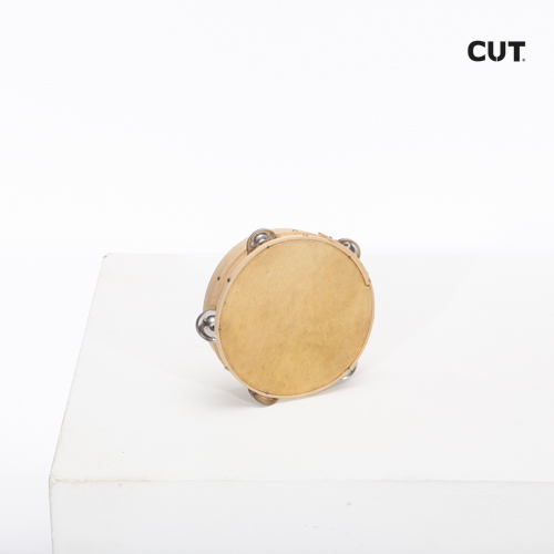 Fashion props in Spain complements music tambourine classic brown 01