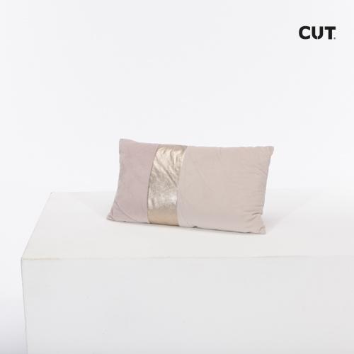 Fashion props in Spain cushion cream shiny stripe rectangular 01