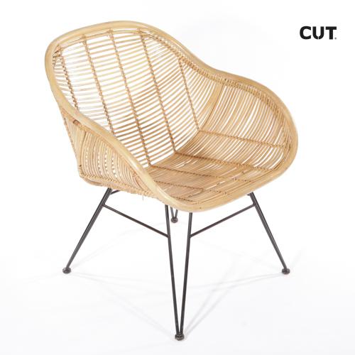 Fashion props in mallorca chair brown wicker design 04