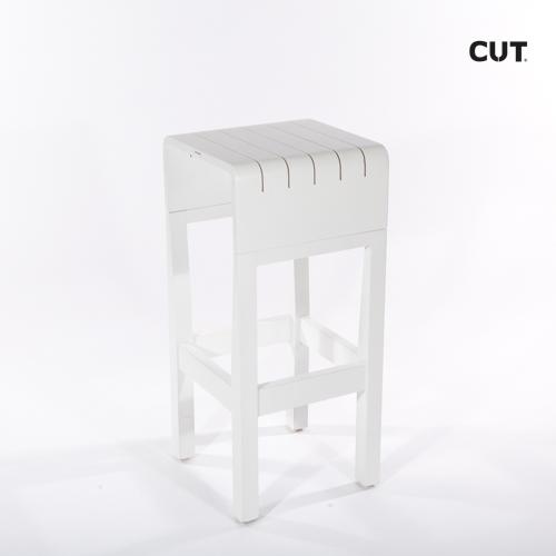 Fashion props in mallorca chair white elegant stool 03