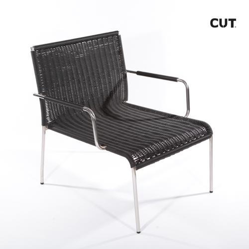 Fashion props in spain chair black wicker 04
