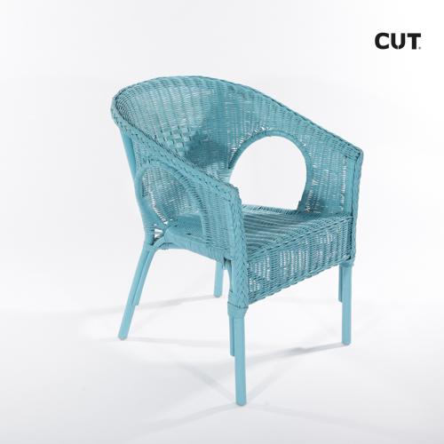 Fashion props in spain chair blue wicker garden 04