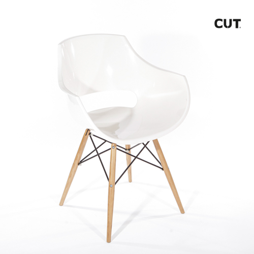 Fashion props in spain chair white wood 04