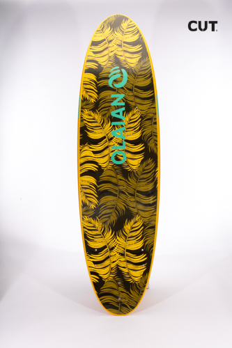 surf board paddle yellow colo
