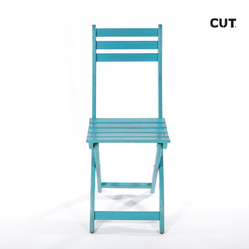 Photo session props chair blue garden 01