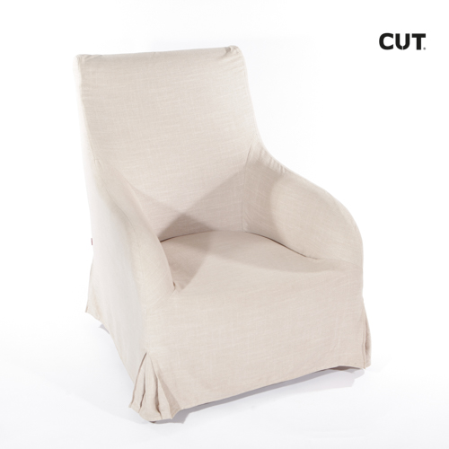 Photo session props chair pale brown armchair 04