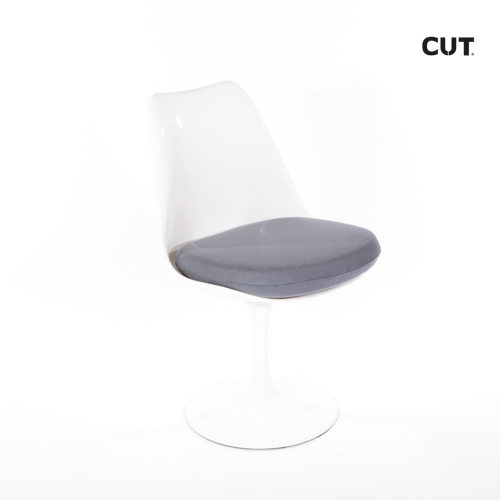 Photo session props chair white modern 04bis