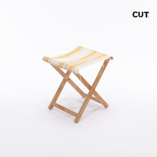 Photo session props chair wood fabric stool 03