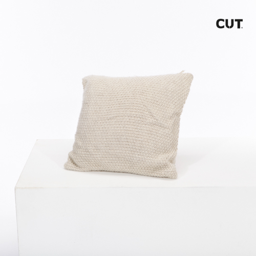 Photo session props cushion beige weave 01