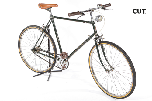 Photography props bike fixed gear brown leather 02