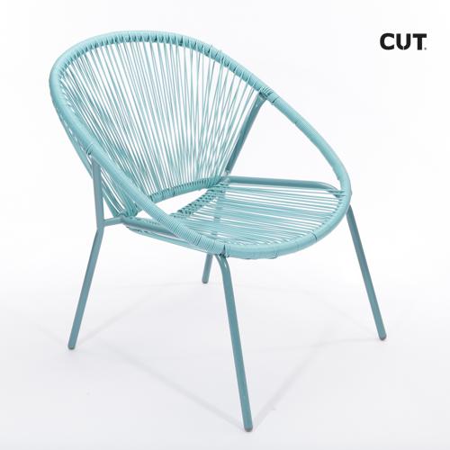 Photography props chair blue garden 04