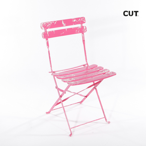 Photography props chair garden pink folding 04