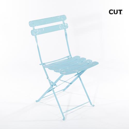 Photoshoot props chair garden blue folding 04