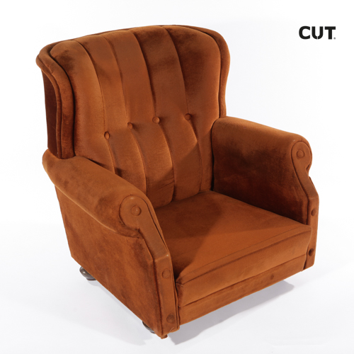 Photoshoot props chair seventies brown armchair 04