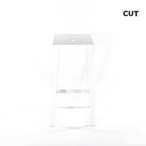 Photoshoot props chair white stool 02