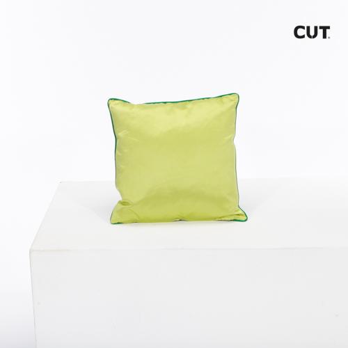 cushion green glossy square