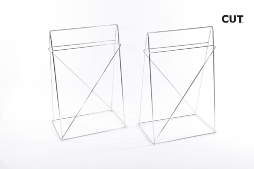 Photoshoot props table aluminium easel 02