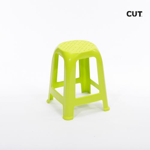 Props in Mallorca chair yellow plastic short stool 02