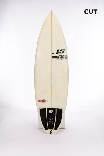 surf board white black line