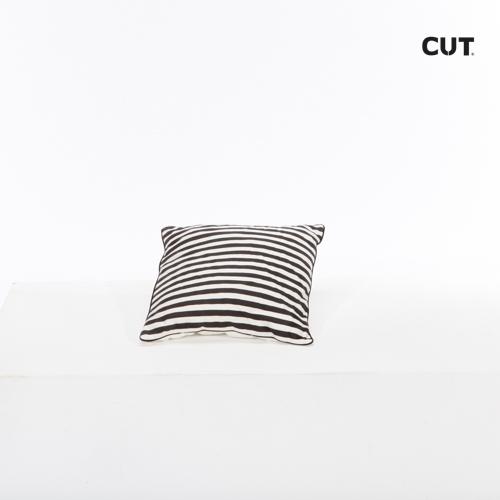 cushion black white stripes