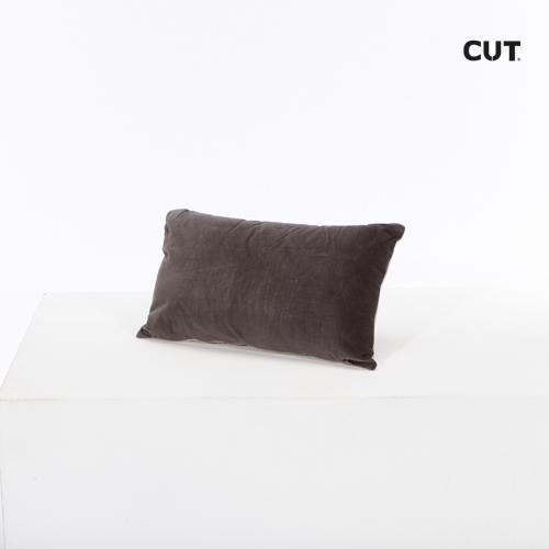 cushion maroon velvet small rectangular